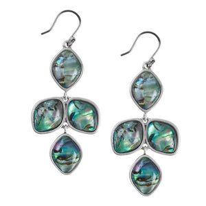 Lucky Brand Abalone Dangle Earrings